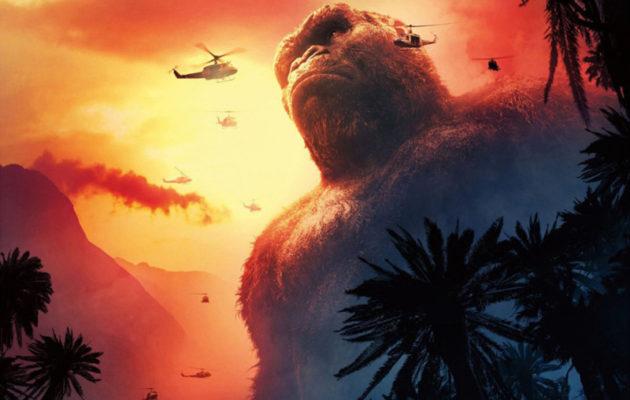 Julisteet: King Kong on ison kerrostalon kokoinen Kong: Skull Islandissa