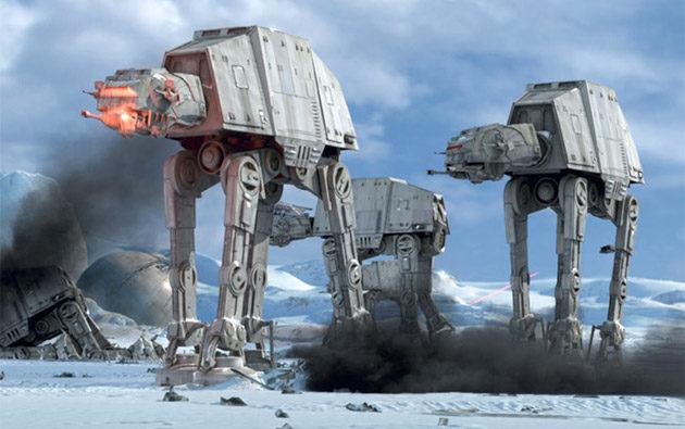 Star Warsista tuttu: Disney rakentaa aidon kokoisia AT-AT-kulkuneuvoja