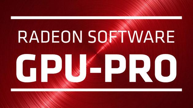 Radeon Software AMD GPU-PRO