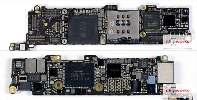Apple iPhone SE:n emolevy