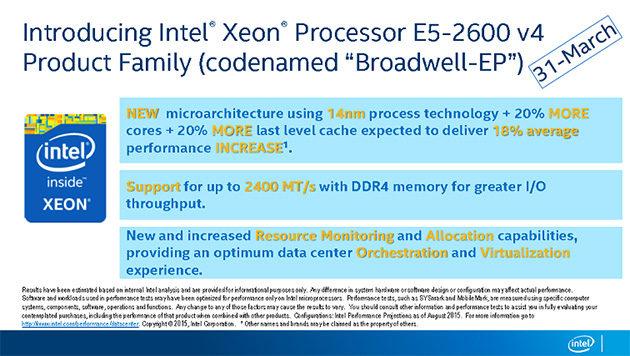 Intel Xeon / Broadwell-EP