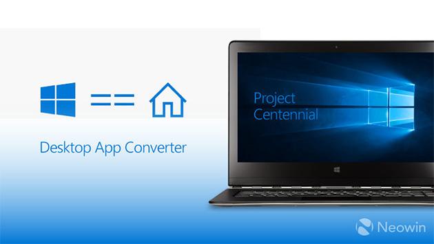 Project Centennial eli Desktop App Converter