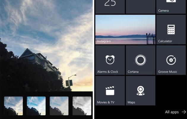 Windows 10 Mobile Instagram