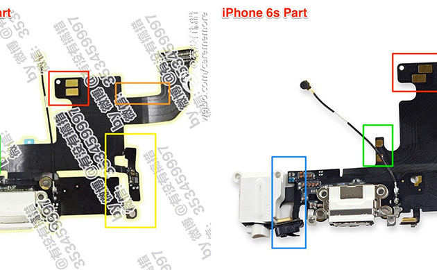 Väitetty iPhone 7:n piirilevy