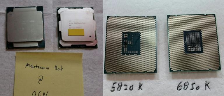 Intel Core i7-5820K ja i7-6850K