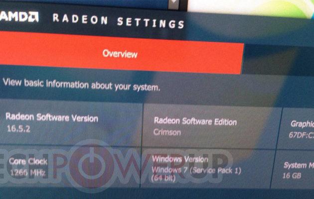 AMD Radeon Software / Radeon RX 480
