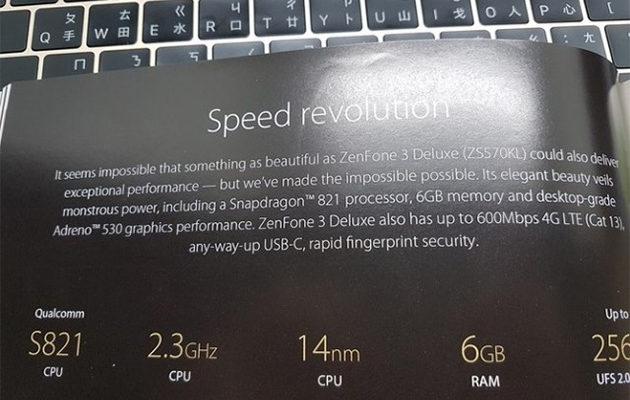 Asus ZenFone 3 Deluxe -speksejä