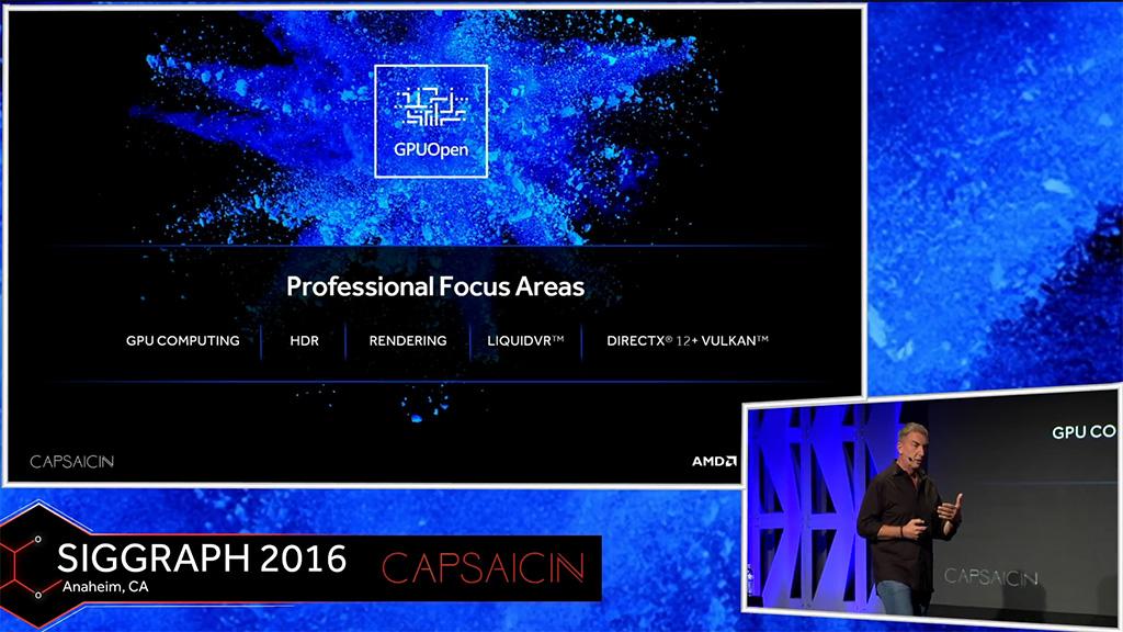 AMD GPUOpen Professional Focus Areas
