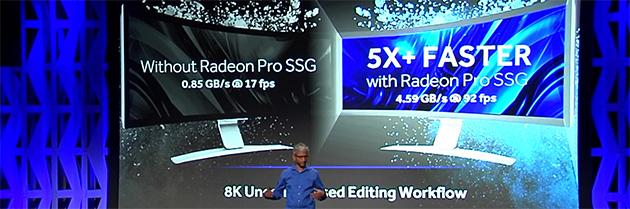 AMD Radeon Pro SSG -suorituskyky