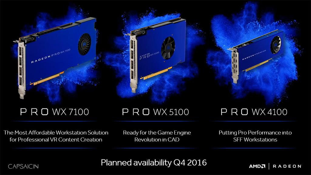 AMD Radeon Pro WX -tuoteperhe