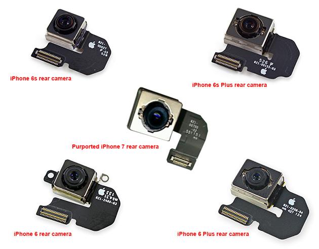 Väitetty seuraavan sukupolven iSight-sensori ja edeltävien sukupolvien sensorit