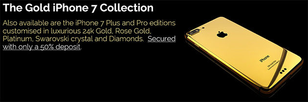 Goldgenie Apple iPhone 7, 7 Plus, 7 Pro