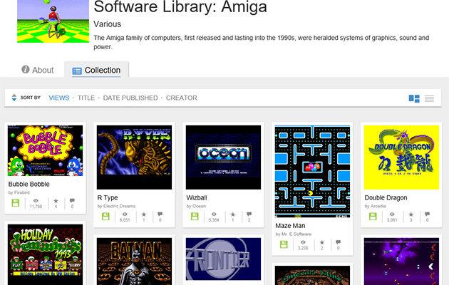 Internet Archive: Amiga-kirjasto