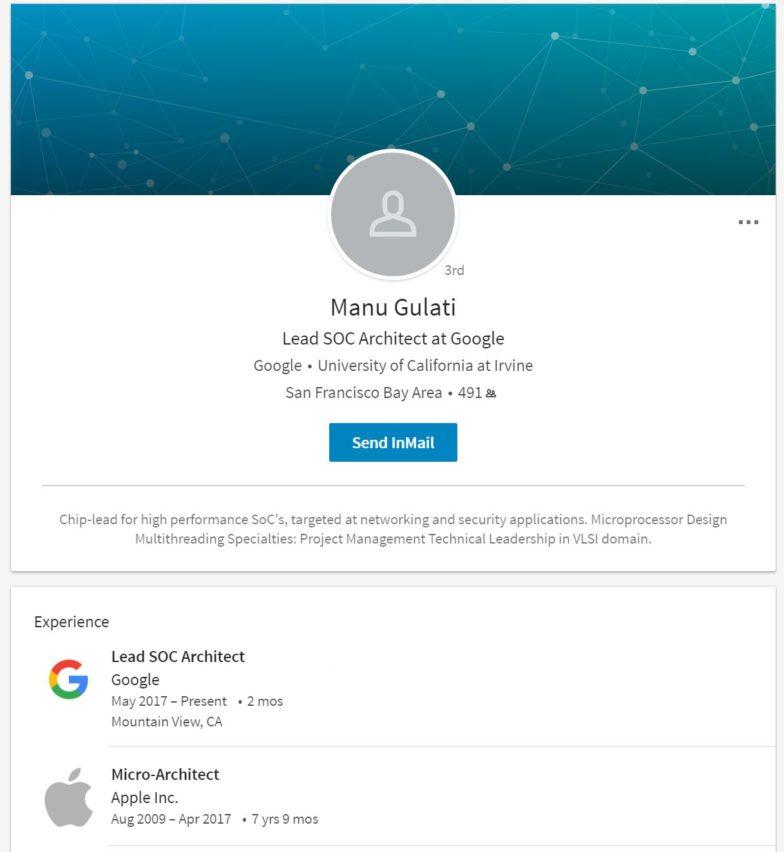 Google nappasi Applelta sirusuunnittelijan, oma järjestelmäpiiri työn alle?