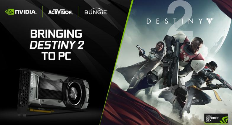 NVIDIA tarjoaa GeForce GTX 1080- ja 1080 Ti -näytönohjaimen ostajalle Destiny 2 -pelin