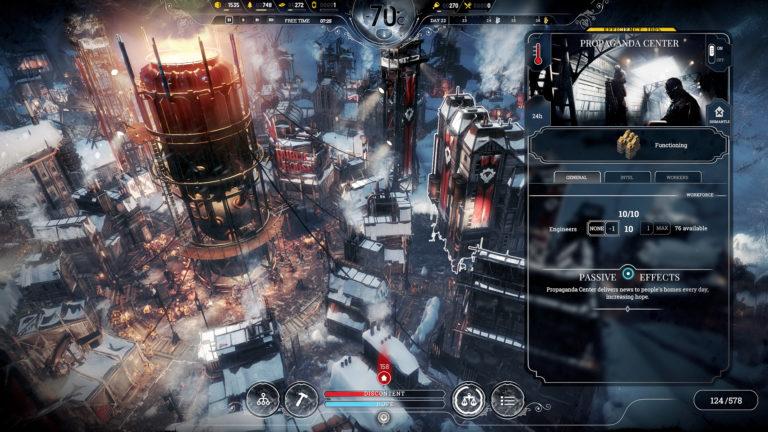 Frostpunk-pelin kaupunki