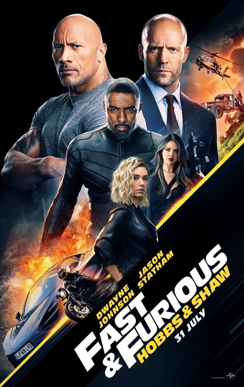 Kuvahaun tulos haulle Fast & Furious: Hobbs & Shaw juliste suomi