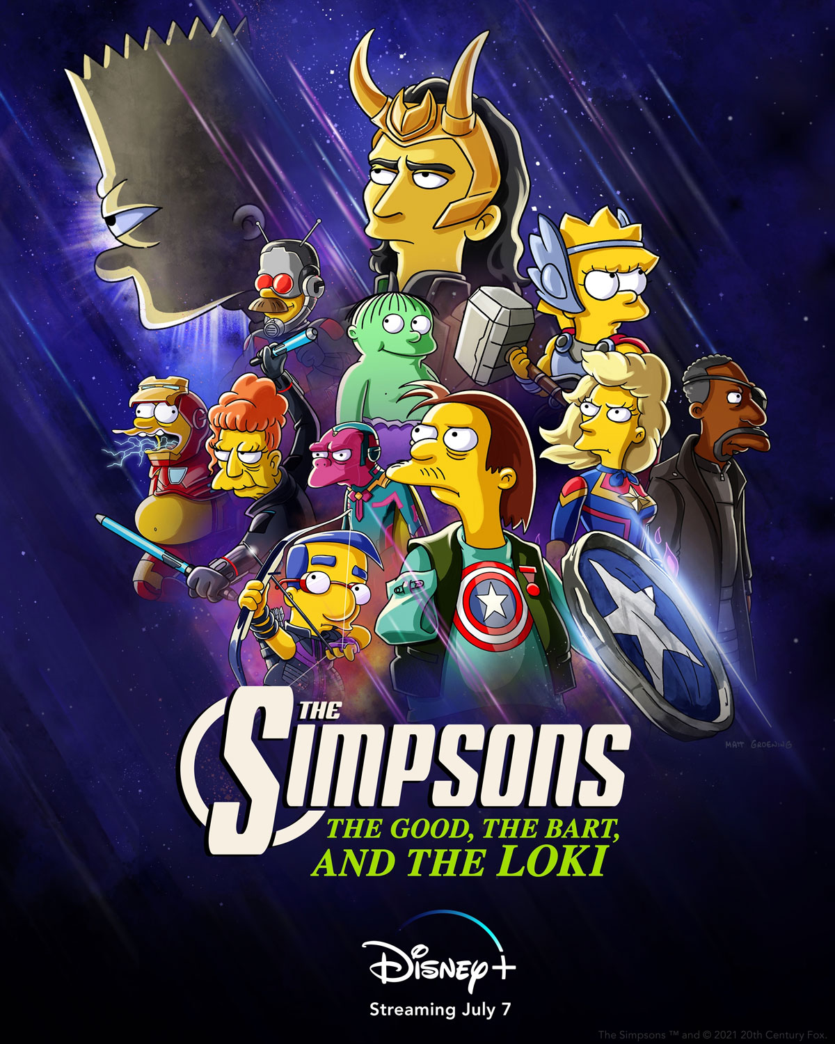 The Simpsons The Good, The Bart and The Loki poster