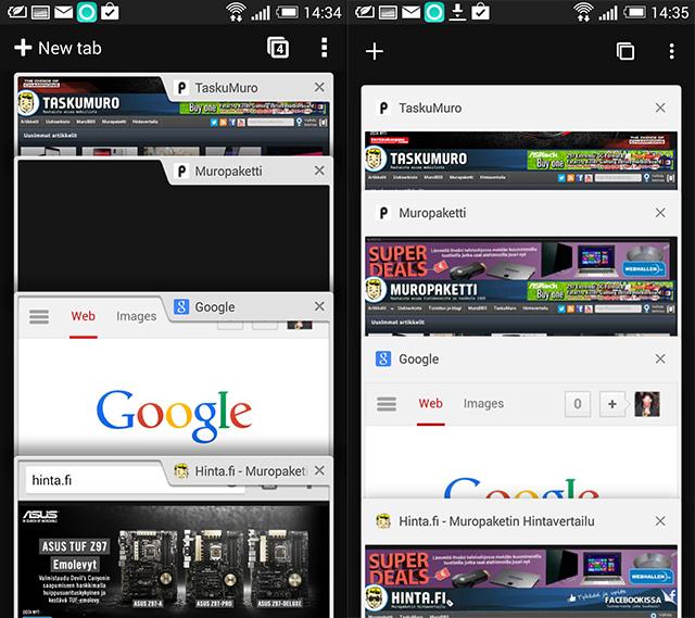 Android Selaimen Päivitys