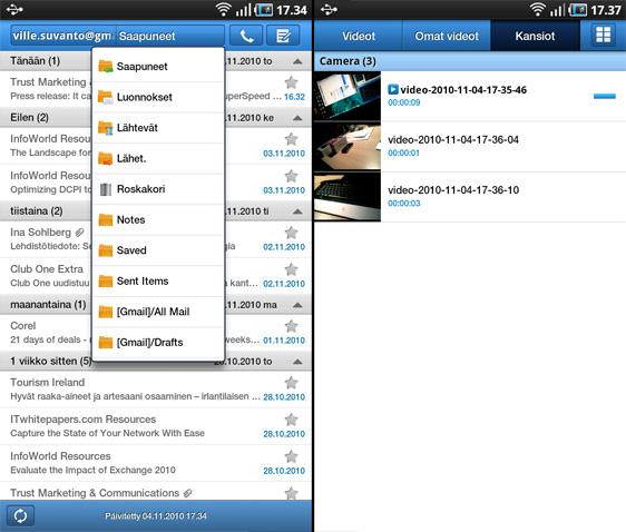 sähköpostiohjelma android Parainen